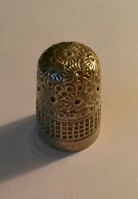 Victorian Silver Thimble 1900