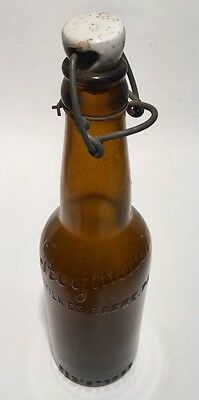 Stegmaier Beer Bottle With Original Porcelain Top And Bail Wire Clip