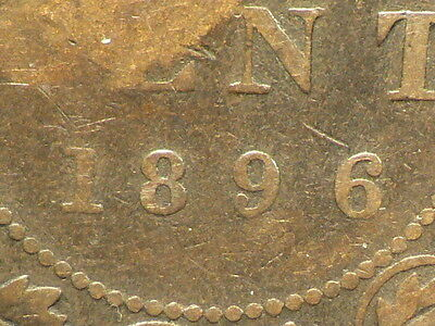 Canada 1896 Victoria Large Cent, Far 6 Variety  #5751