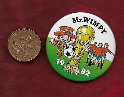 Wimpy advertising football badge scarcer 1982 World Cup edition