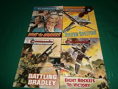 4 X Vintage Commando War Comic/ Books      (5)