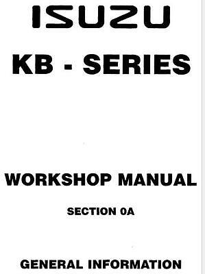 ISUZU KB TF140 Workshop Manual