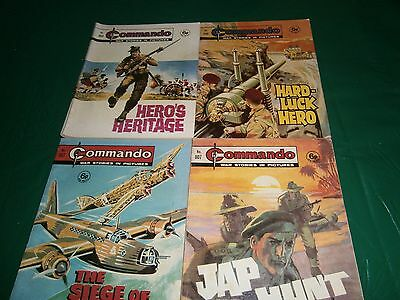 4 X VINTAGE  COMMANDO WAR COMIC/BOOKS  ALL 6d    (7)