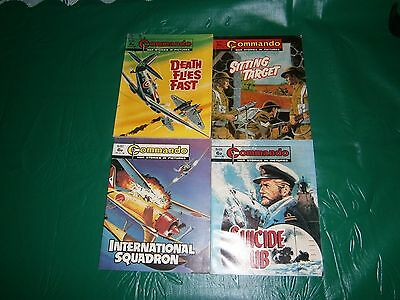 4x vintage 6 old pence commando comic /books