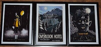 Stephen King A4 Framed Movie Pictures - It, Salem's Lot, The Shinning