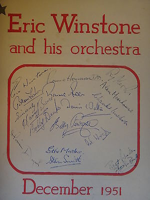 Eric Winstone and his orchestra Autographs