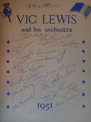 Vic Lewis and his orchestra Autographs
