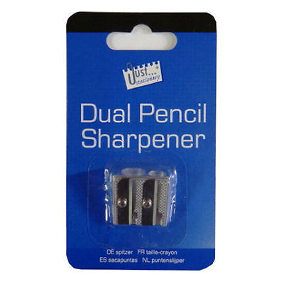 Dual Hole Metal Pencil Sharpener  Drawing /Craft / Make Up / WH2 - R2B 625 - NEW