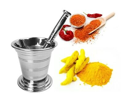 Kitchen Stainless Steel Mortar and Pestle Set Spice Grinder Pharmacy Bowl B-03