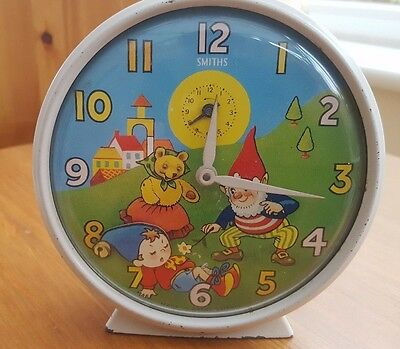 "Vintage ""Noddy & Big Ears"" Smiths Childs Alarm Picture Clock from 1970 (Working)"