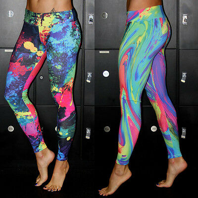 Womens Yoga Athletic Gym Sports Running Pants Leggings Fitness Stretch Trousers