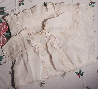 3 pc Old Vtg Baby Christening Outfit Gown Jacket Hat Kronitz Kreation