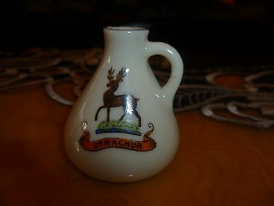 "Celtic porcelain china model of a small jug. Rare Crest for  "" STRACHUR"""