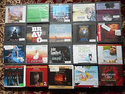 Lot Of 20 Unabridged Fiction Mystery / Suspense CD Audiobooks - A++  Authors