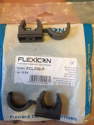 Adaptaflex Flexicon Kopex Flexible Conduit Clips FCL25B-P, Qty10, Free P&P UK