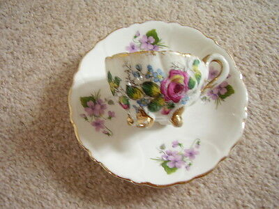 Royal Adderley England porcelain saucer and German cup