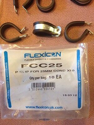 Adaptaflex Flexicon Kopex Flexible Conduit Clips FCC25, Qty10, Free P&P UK