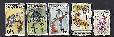 Czechoslovakia. Five Natural History stamps