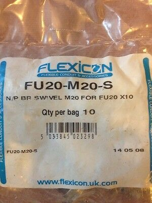 Adaptaflex Flexicon Kopex Flexible Conduit FU20-M20-S, Qty per bag 10, Free P&P