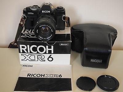 Ricoh XR 6 Camera and 50mm f2 lens With Carry Case and 2 x lens converter.