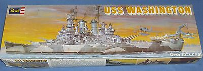 REVELL USS WASHINGTON MODEL No. H-401 15in LONG A VERY RARE VINTAGE MODEL