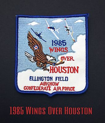 Wings Over Houston 1985 Patch Vintage Ellington Field Airshow Air Force Rare
