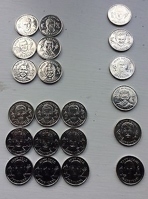 Official England Football Squad World Cup 1998 Medal Collection x 21 coins