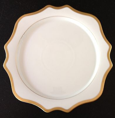 ANNA WEATHERLEY porcelain charger ANTIQUE WHITE WITH GOLD - list $120