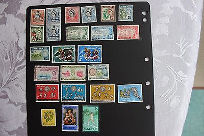 Qe2 Jamaican Mint Stamps Mix Of Mint Hinged & Mint Never Hinged