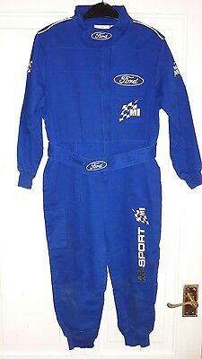 Child/ kids Ford Rally Sport Mechanics overalls supplied by M Sport. MSport RS