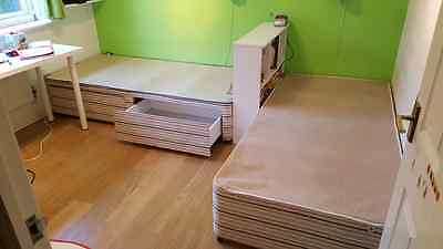 2 Single Bed Frames with built in storage