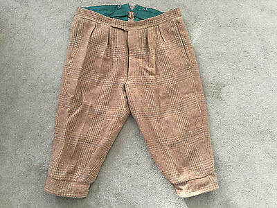 NORTON & SONS SIZE 40 Shooting Hunting Breeks Breeches Short TWEED WOOL Trousers