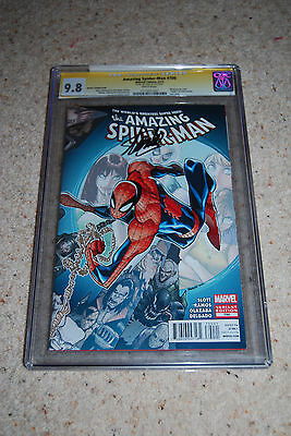 Amazing Spider-man 700 Ramos Variant CGC 9.8 Signed by Stan Lee