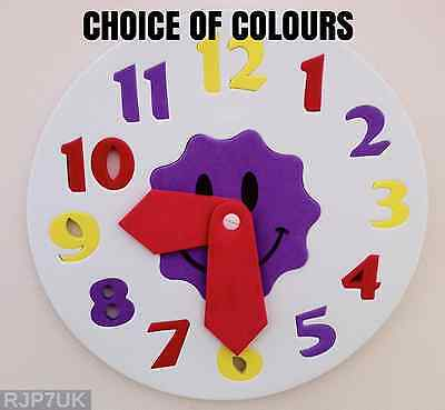 Sainsburys Childrens Foam Clock Puzzle - Tell The Time - Learn To Tell Time NEW