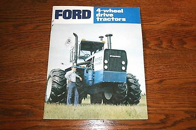 Ford 4 Wheel Drive Big Tractors Advertising Sales Brochure FW 20 thru FW60
