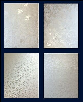 Champagne Pearlescent/Shimmer Embossed Card 10 sheets A4 (Various Designs)