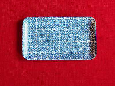 Small Blue and White patterned melamine tray Made for Waitrose New