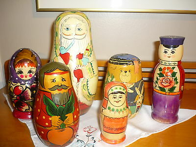 Lot 15 Vintage Mixed Russian Nesting Dolls -    # 21