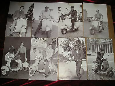 14 VESPA SCOOTER POSTCARDS - featuring1950'S / 1960'S ACTORS AND ACTRESS