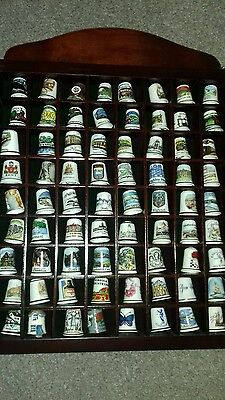 296 Thimbles Collection with 4 Display Cabinets