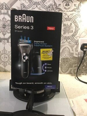 Braun Series 3 390cc-4 Rechargeable Electric Shaver NEW XMAS GIFT FOR MEN
