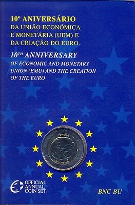 Portugal Portogallo Off Coffret Bu Com 2009 2 € Emu 10 Ans €