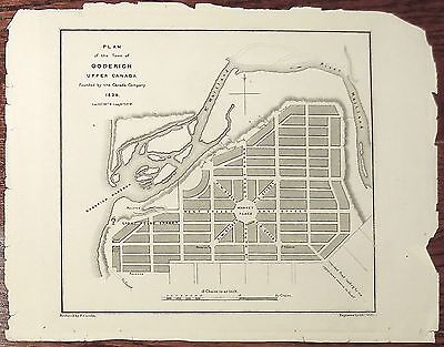 Plan of the Town of Goderich Upper Canada, ... Canada Company, Bouchette,1829