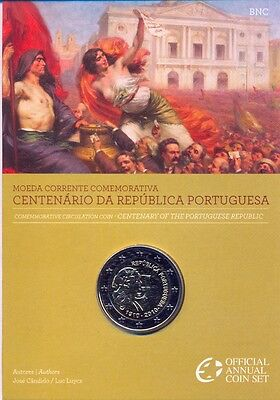 Portugal Portogallo Off Coffret Bu Com 2010 2 € 100 Ans Republique