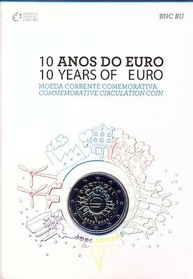 Portugal Portogallo Off Coffret Bu Com 2012 2 € Tye 10 Ans € Courant