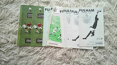 Collection of 10 1967-1968 Fulham programmes