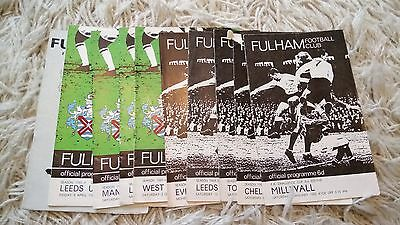 Collection of 10 1965-1966 Fulham programmes