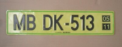 Slovenia Export  License Plate  Maribor  Quality As The Picture  Not Valid