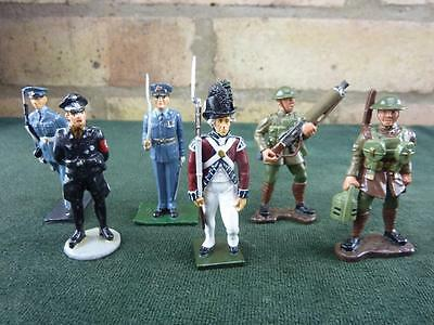 6 nice lead mixed soldiers figures Britains ETC.