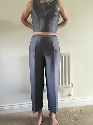 BNWT Ted Baker Ice Grey Trousers Size 2 (Uk 10)